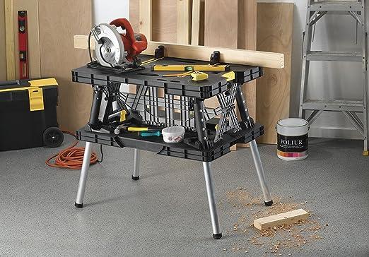 Tavolo Da Lavoro Keter : Keter banco da lavoro pieghevole compatto con morsetti x