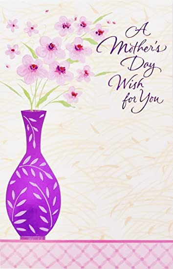 Amazoncom A Mothers Day Wish For You Happy Purple Flowers Vase