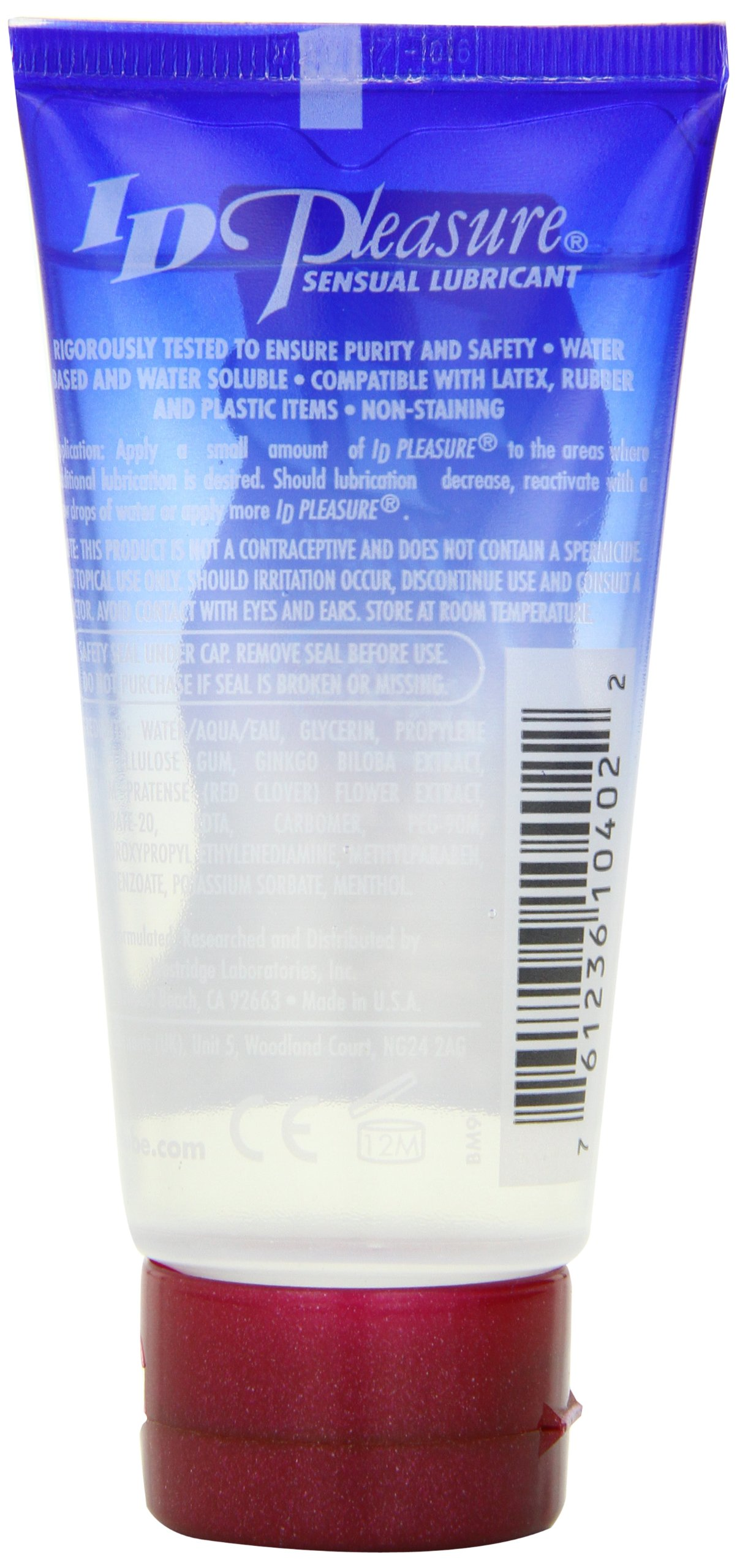 ID Pleasure 2 FL OZ Water Based Personal Lubricant Travel Tube by ID Lubricants (Image #3)