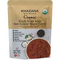 Khazana ORGANIC Ready to Eat Indian Meals (6-Pack) - Black Gram w/ Red Kidney Beans Curry - 10oz Pouches | Non-GMO…
