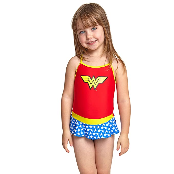 b22eb08b0d74e Zoggs Girls Wonder Woman Swimsuit