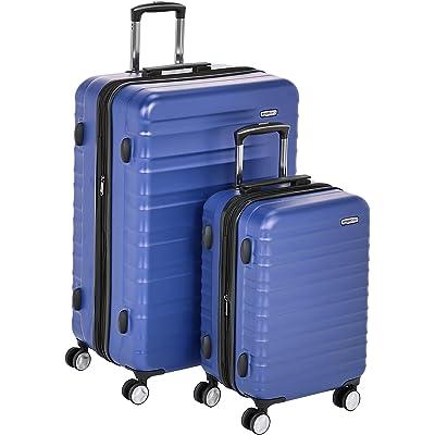 AmazonBasics - Maleta rígida «Hardside» de alta calidad, con ruedas giratorias y cerradura TSA incorporada - Juego de 2 unidades (55 cm, 78 cm), Azul