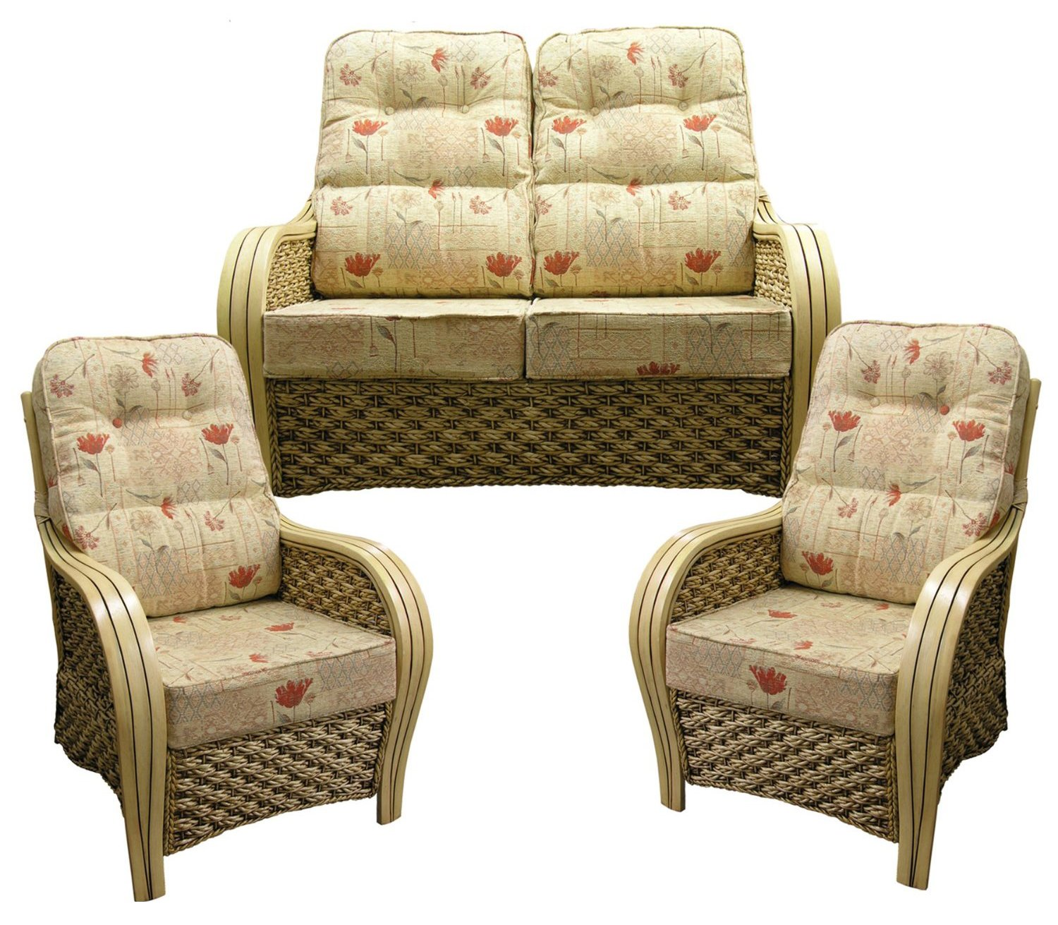 Cane Sofa Set Cushions