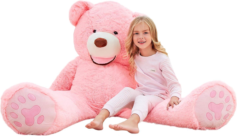 IKASA Teddy Bear Gigante con Grandes Huellas Juguete de Peluche Suave Animal de Peluche (Rosa, 160cm)