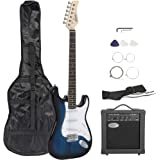"""ZENY 39"""" Full Size Electric Guitar with Amp, Case and Accessories Pack Beginner Starter Package, Blue Ideal Christmas Thanksg"""