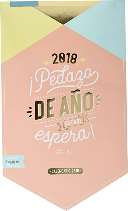 Mr. Wonderful WOA08664E - Calendario pared 2018: Amazon.es ...