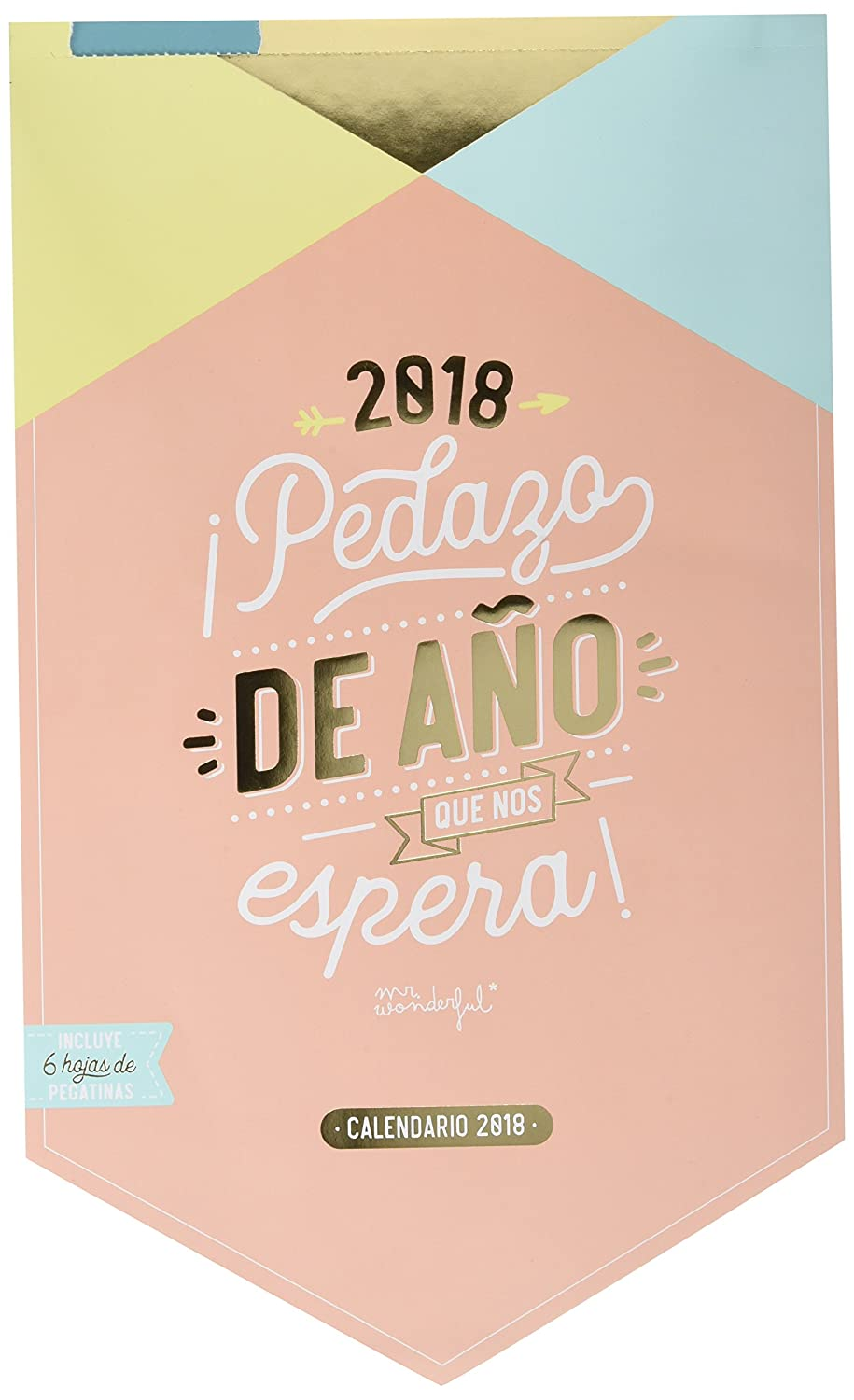 Mr. Wonderful WOA08664E - Calendario pared 2018