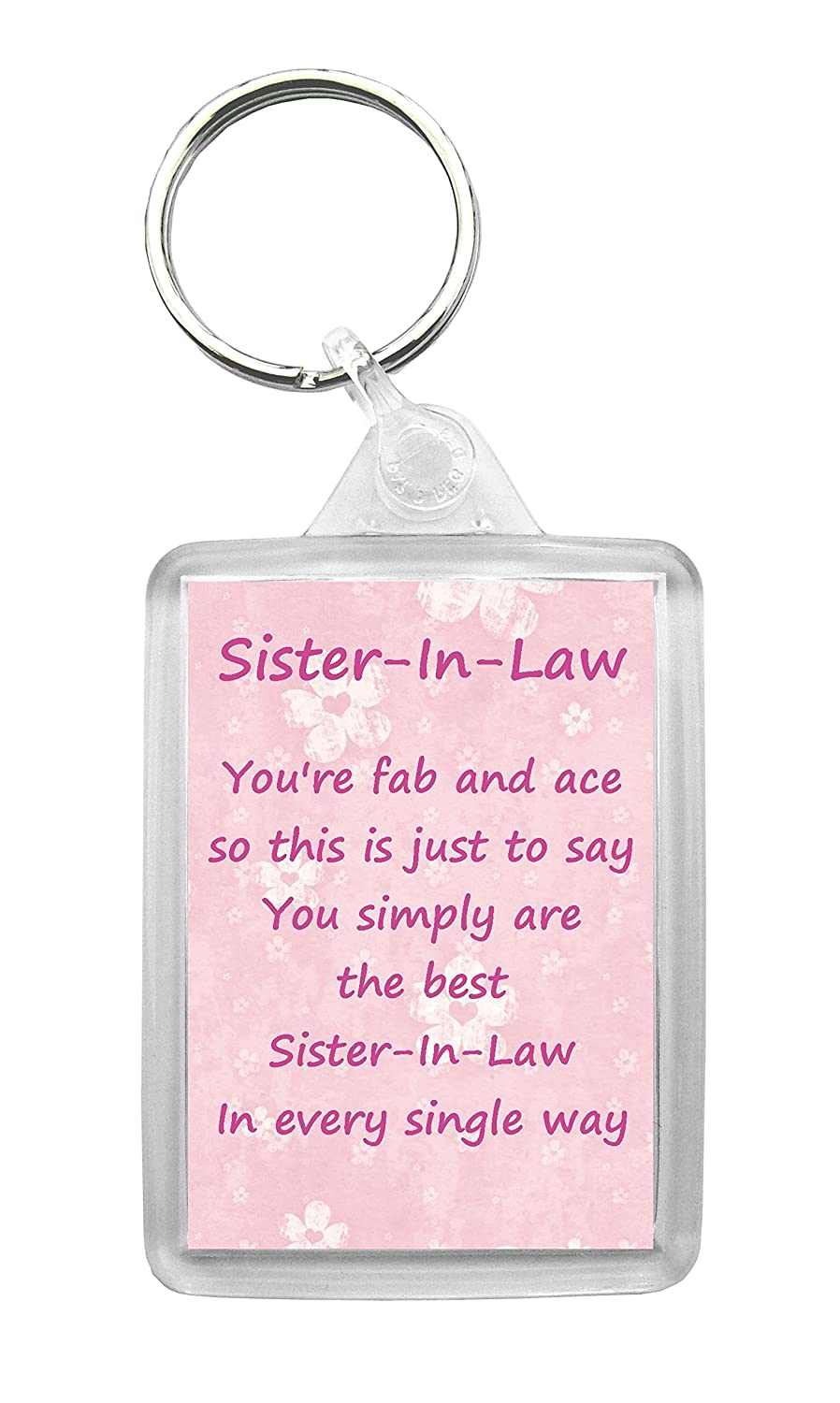 Sister-In-Law Keyring Fun Novelty Birthday Anniversary Christmas ...