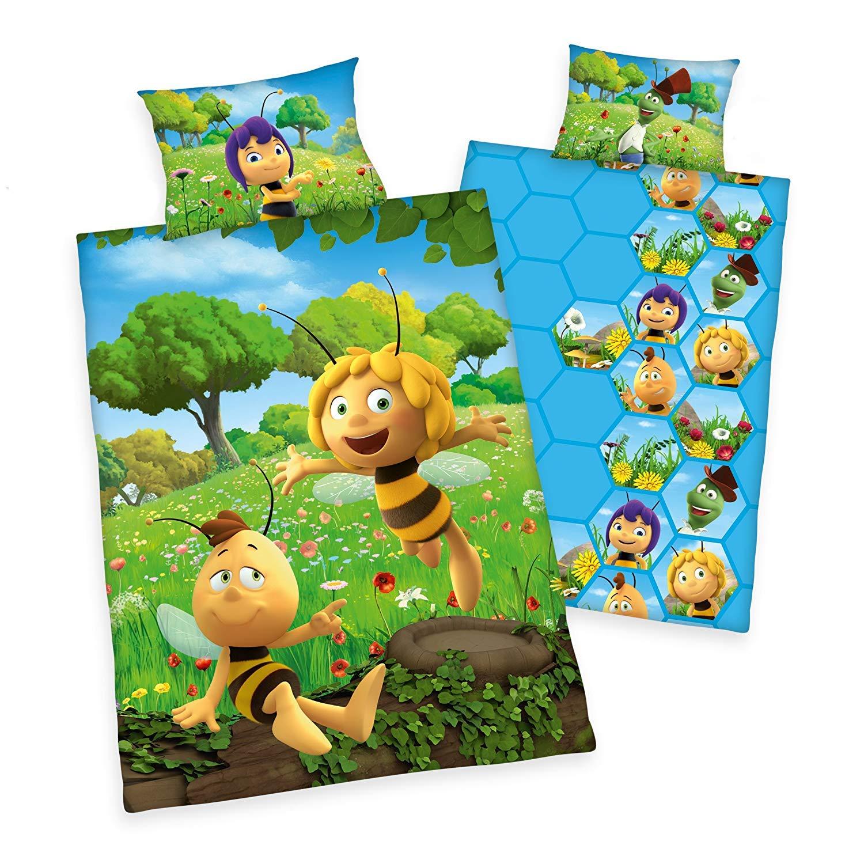 Renforc/é 100x135 cm Honigspiele Arle-Living 3 TLG Die Honigspiele Baby Bettw/äsche Set mit Wende Motiv: Biene Maja 1 Spannbettlaken 70x140 cm 40x60 cm