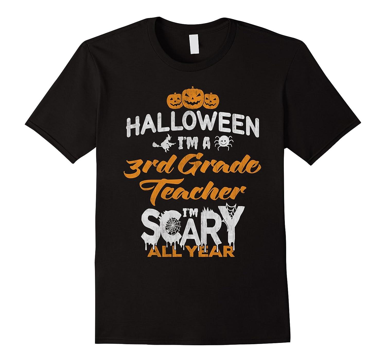 3rd Third Grade Teacher Halloween Costume Gift Tshirt-Art
