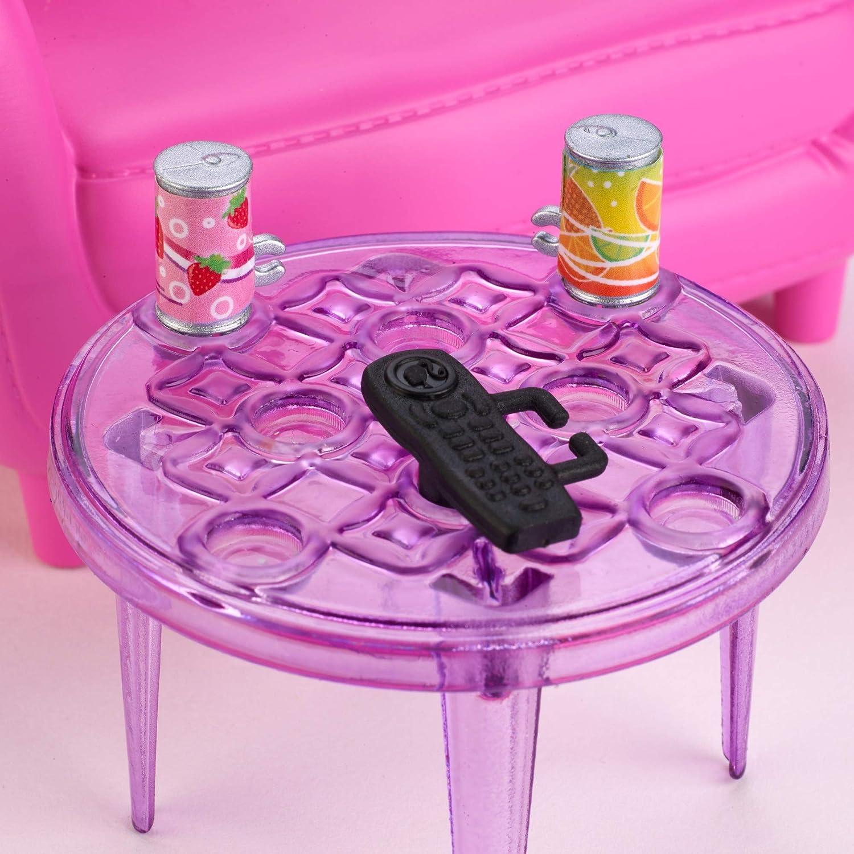 salon avec chaton Barbie FXG36 Intérieur Ensemble de meubles multicolores