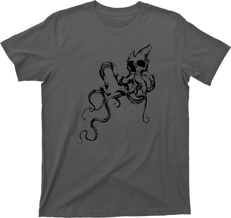 Kraken T Shirt Tattoo Giant Octopus Squid Shark Attack Ocean Sea Monster Tee