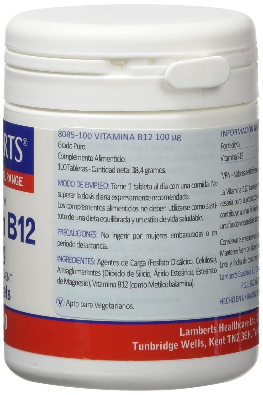 Lamberts Vitamina B12 100ug - 100 Tabletas: Amazon.es: Salud y cuidado personal