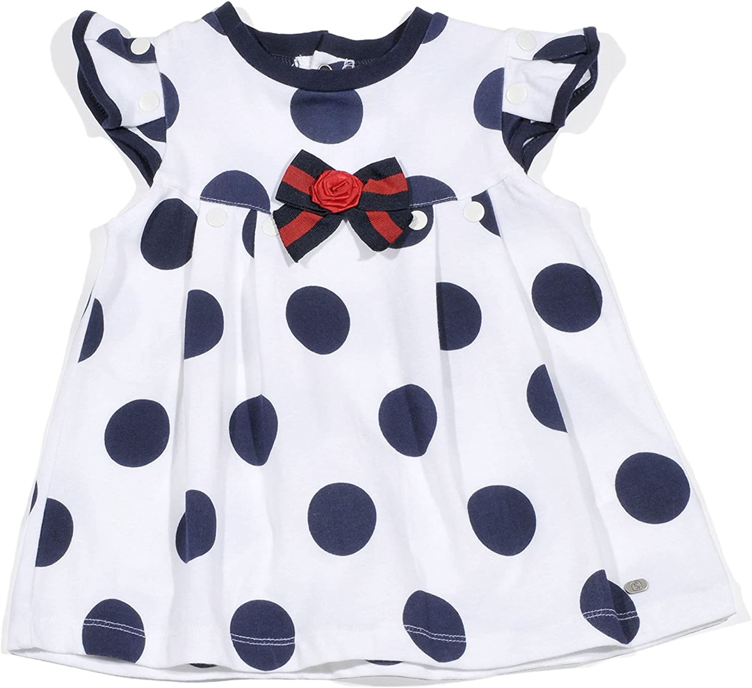 Petit Lem Infant and Toddler Girls Pretty by the Sea Polka Dot Dress