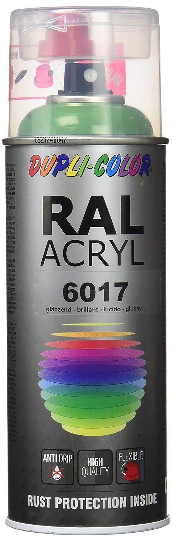 Dupli Color RAL 6017,  Pintura Acrí lica, Color Verde Mayo Brillante, 400 ml Pintura Acrílica Motip-Dupli GmbH 358241