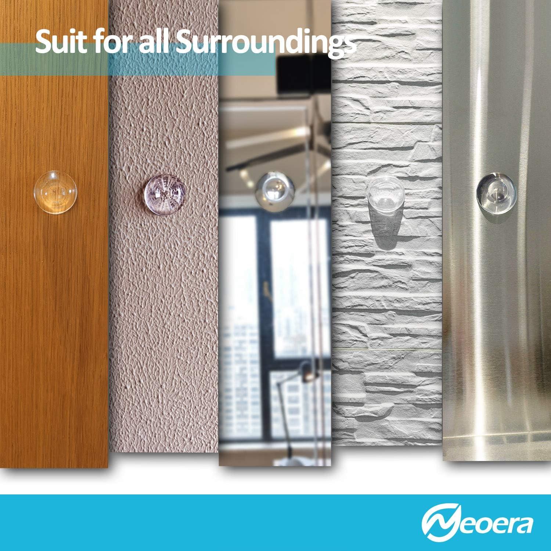 Rubber Shock Absorbent Clear Round Neoera Door Stopper Wall Protector Anti Color Changing Premium Reusable Adhesive Bumper Protector Quiet Door Stop /& Silencer for Door Handle 2 5 Pack