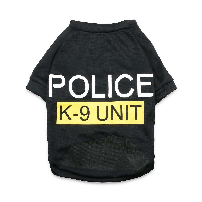 DroolingDog Dog Police Security Shirt Canine Clothes Pet Costume for Medium Big Dogs, XXXL
