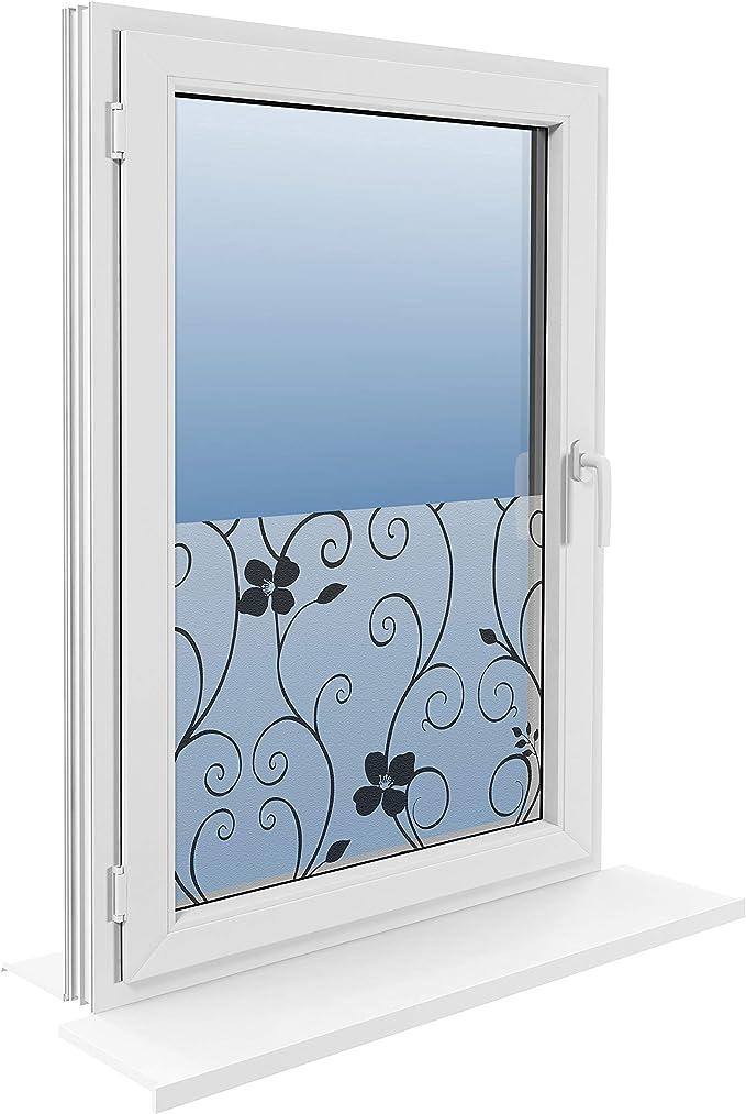 Efeu Statisch Selbsthaftend Fensterfolie Milchglasfolie Dekofolie 45//60//90x200cm
