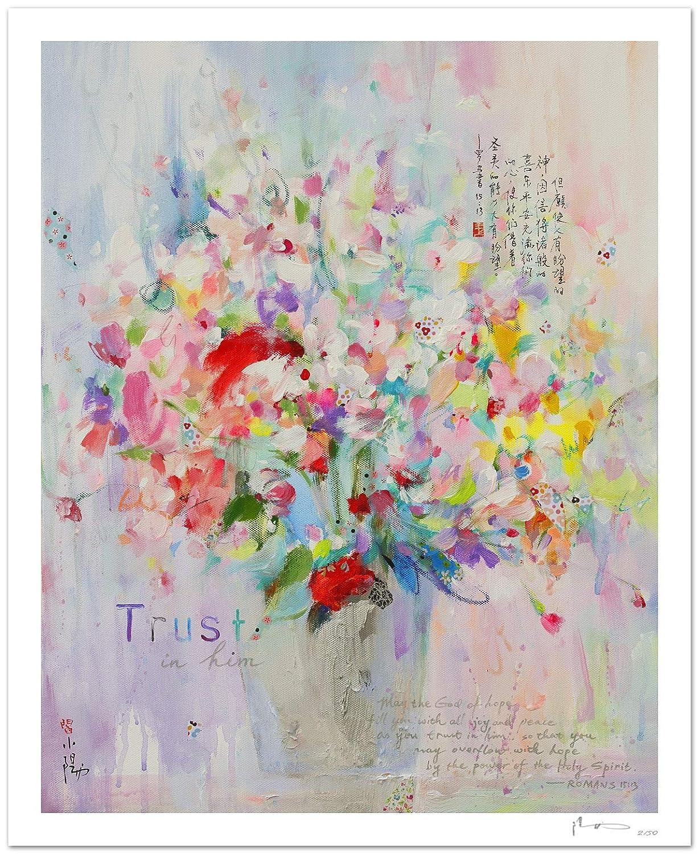 Reproducción de arte - Trust in him - sobre papel de acuarela 300g ...