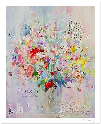 Reproducción de arte - Trust in him - sobre papel de acuarela 300g/m² con textura, de alta calidad: Amazon.es: Handmade