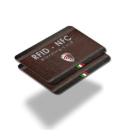 X2 RFID & NFC Blocker Anti Scan - Tarjeta Bloqueo RFID para Tarjetas de Crédito y Débito – Lock Protección RFID NFC Adios a Las Fundas - Una Sola ...