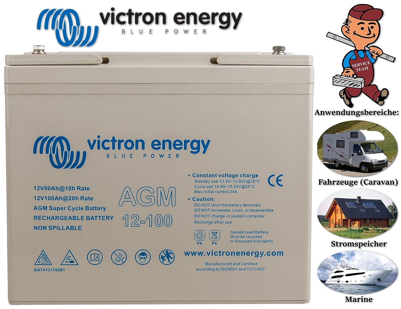 Victron Energy - Batterie 100Ah 12V AGM Super Cycle Victron Energy Photovoltaïque Nautique - BAT412110081