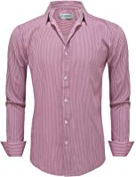 Tom's Ware Mens Classic Vertical Striped Fake Pocket Longsleeve Shirts