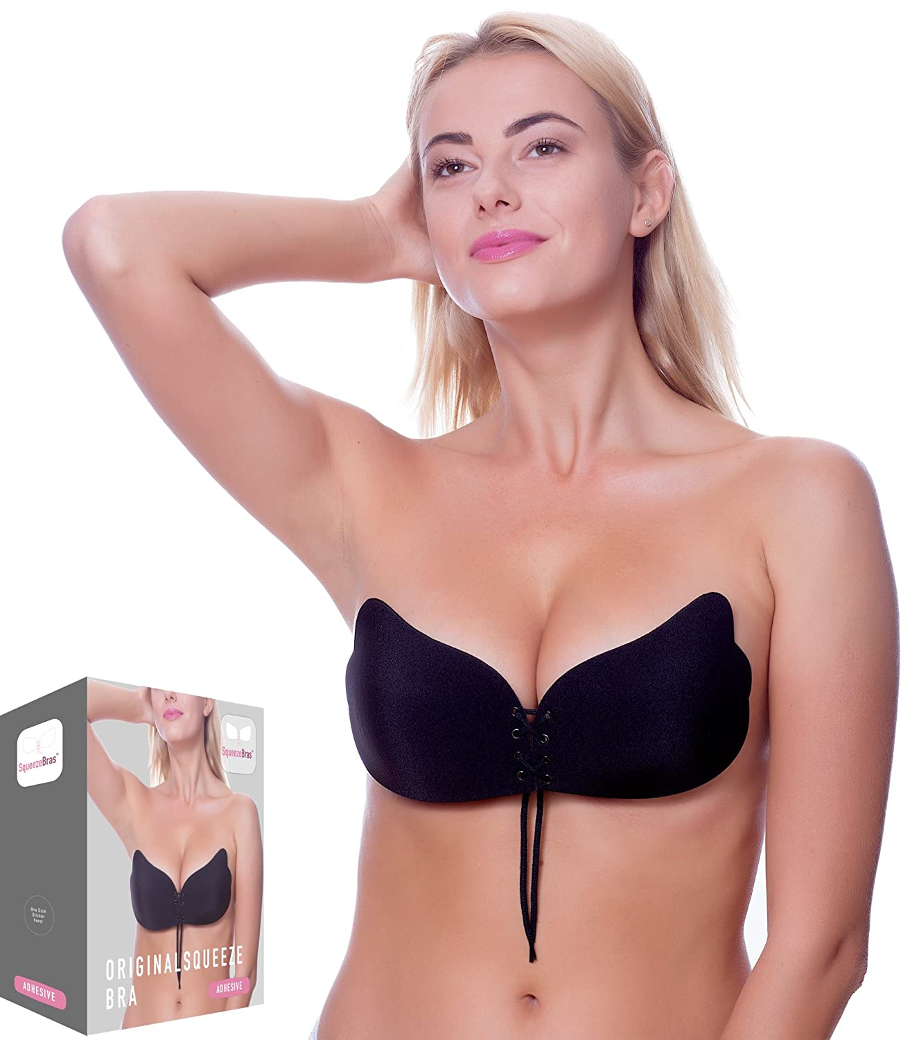 1edd524fd28 2018 Upgraded Version Strapless Backless Sticky Invisible Reusable Adhesive  Push-up Bra (D