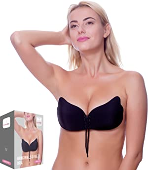 a862d7c8b3 THE BEST CLEAVAGE YOU VE EVER SEEN! Our adhesive push up bra was designed  to bring out the biggest of your cleavage