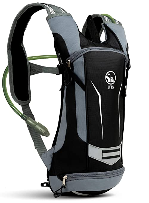 dcbb165e5c32 Amazon.com   U`Be Hydration Pack Water Backpack - Kids Women Men ...