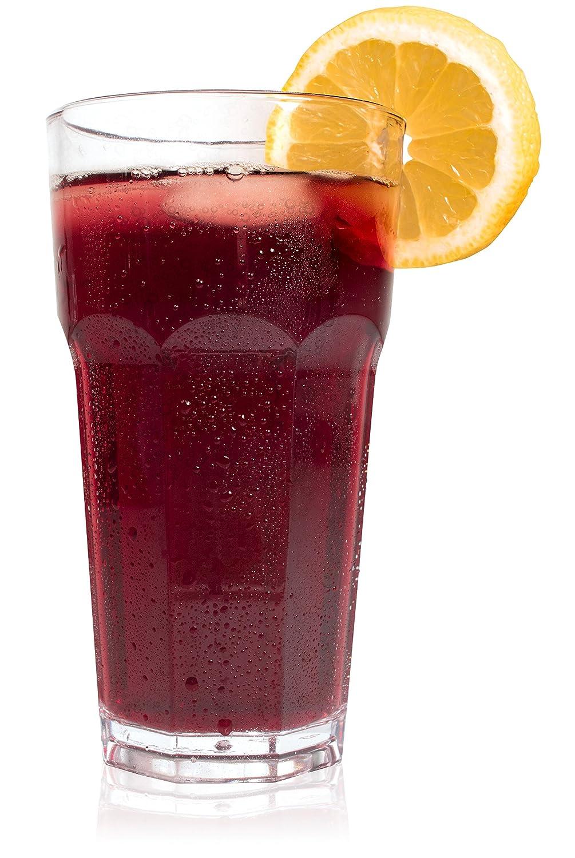 policarbonato transparente para beber Juego de 6 vasos de pl/ástico transparentes c/ócteles o para utilizar en cualquier ocasi/ón 430ml efecto de cristal de Speeva