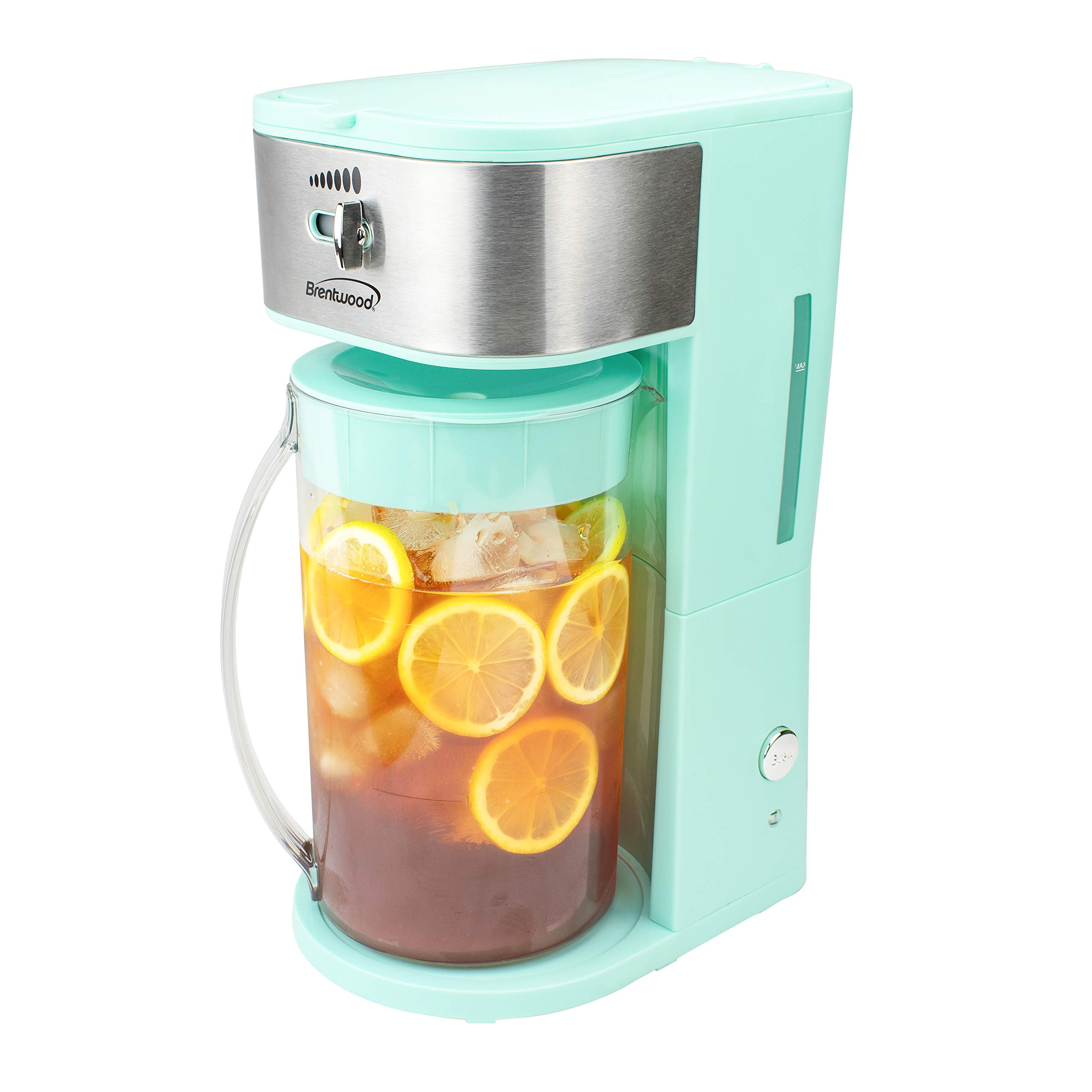 Brentwood Iced Tea and Coffee Maker with 64oz Pitcher (BLUE)