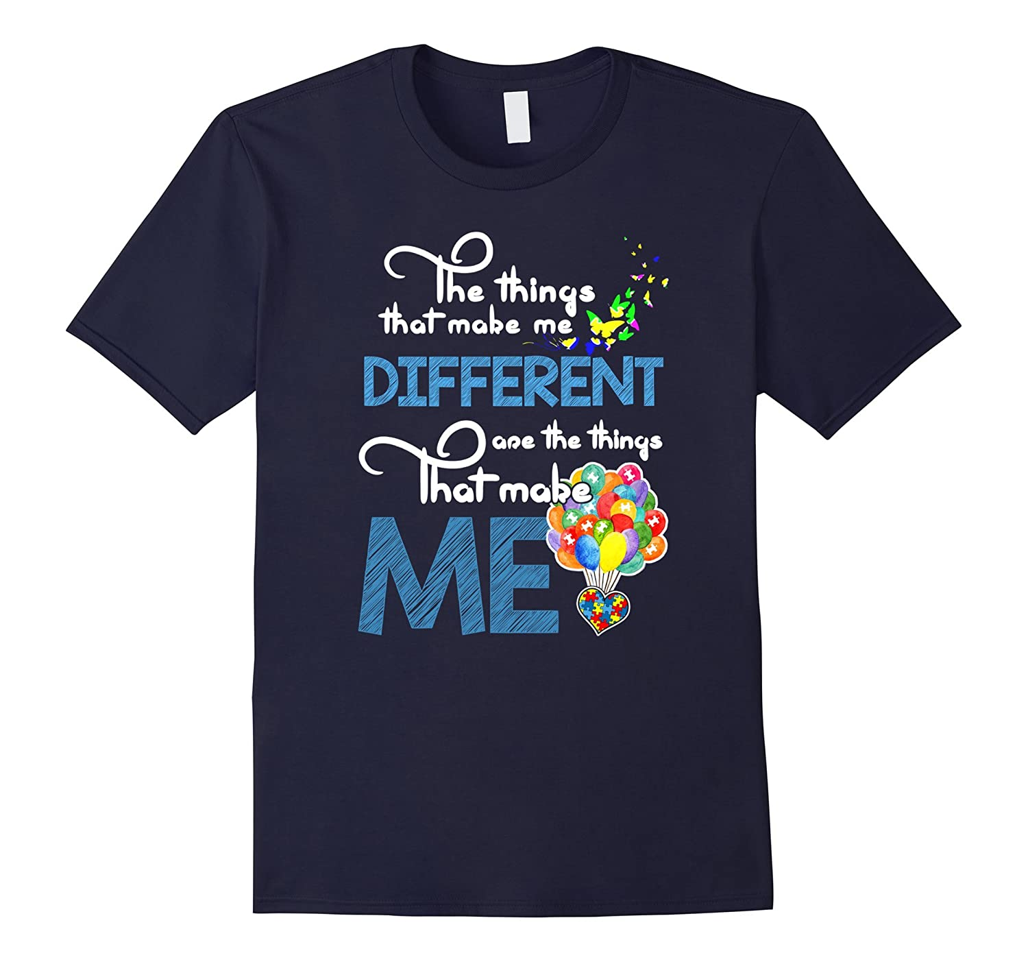 Autism Awareness Things make me different Autism color tees-CD