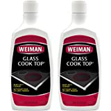 Weiman Glass Cook Top Cleaner & Polish - Heavy Duty, No Scratch, Glass-Ceramic Safe, Non-Abrasive, 20 fl oz (2 Pack)