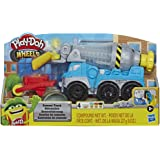 Play-Doh Wheels Cement Truck Toy for Kids Ages 3 & Up with Non-Toxic Cement-Colored Buildin' Compound Plus 3 Colors