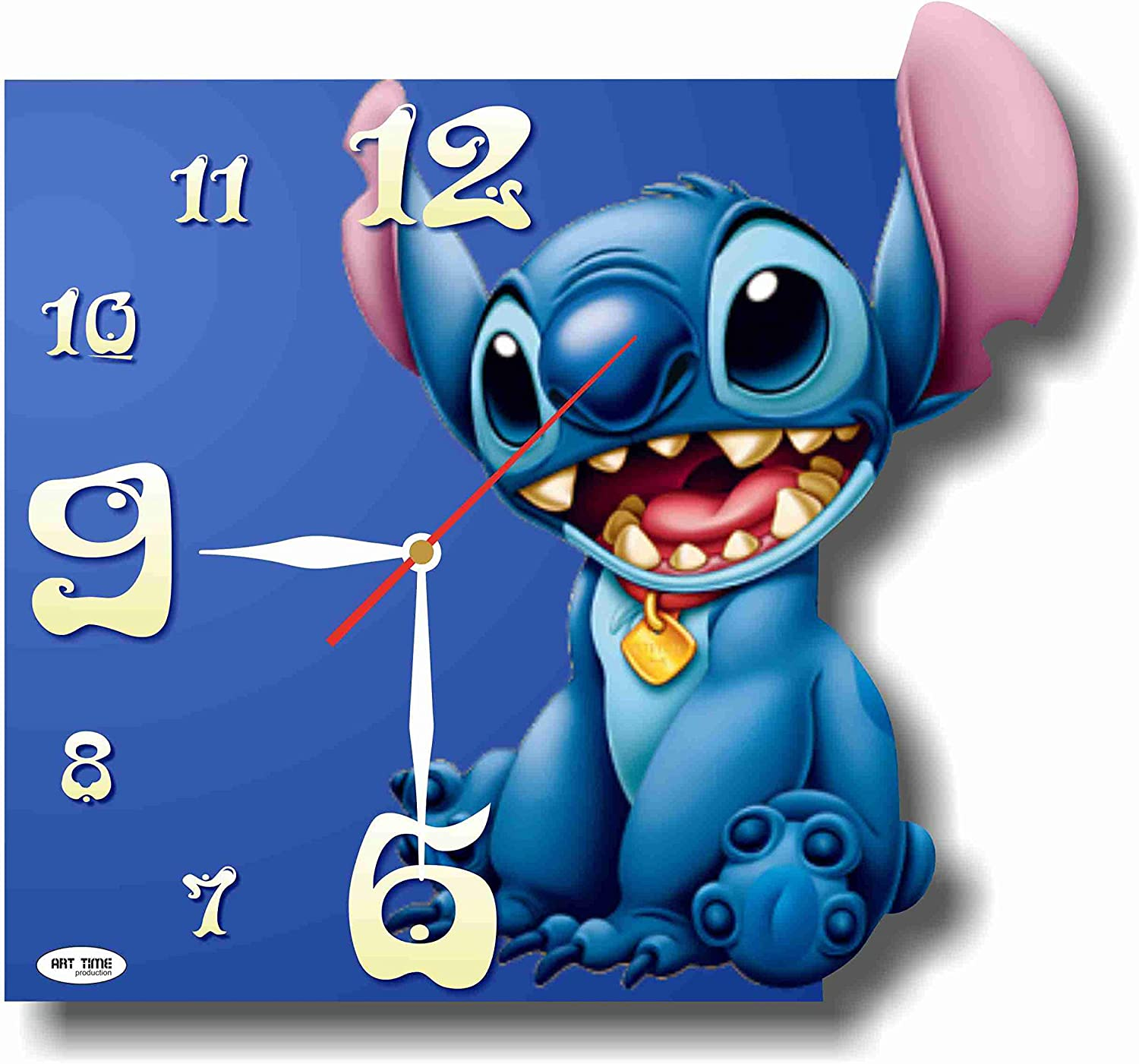 MAGIC WALL CLOCK FOR DISNEY FANS Lilo & Stitch 11'' Handmade Made of Acrylic Glass - Get Unique décor for Home or Office – Best Gift Ideas for Kids, Friends, Parents and Your Soul Mates