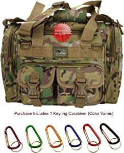 "Nexpak USA TF115 Small 15"" Inch Waterproof Tactical Molle Range Duffel Duffle Bag Hiking 1600 Cu in + Key Ring Carabiner"