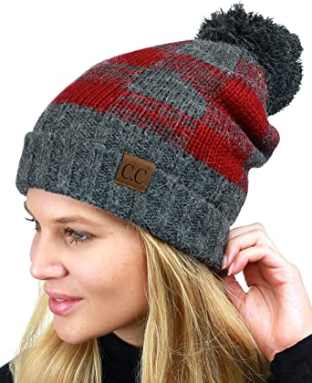 Cherokee Orange,white,and black beanie with pompom /& Visor 4-16 Slouch Style