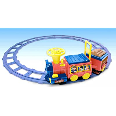 National Products 6V Battery Operated Talking Train with Track: Toys & Games