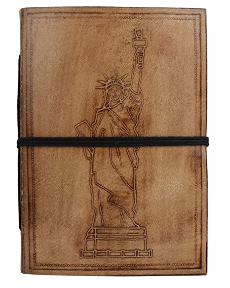 b2c2106206d8 Image Unavailable. Image not available for. Colour  RUSTIC TOWN Handmade  Vintage Antique Looking Genuine Leather Journal Diary Notebook ...