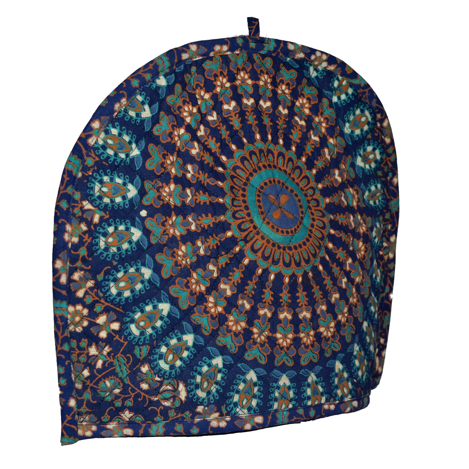 New blue ombre mandala Tea cozy For Teapot Mandala Print 100% Cotton Tea Cosy, tea cozy for 2 cup teapot,Tea Pot Cover,Tea Cozy cover, blue ombre Mandala Tea cosy Cover by Marudhara Fashion (Image #2)