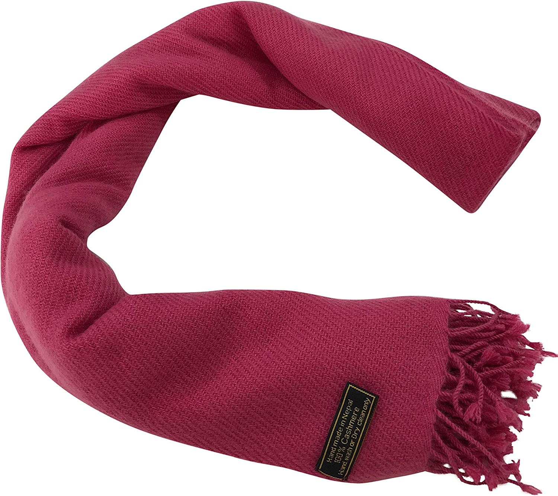 2-lagig handgefertigt aus Nepal CJ Apparel Schal aus 100/% Kaschmir
