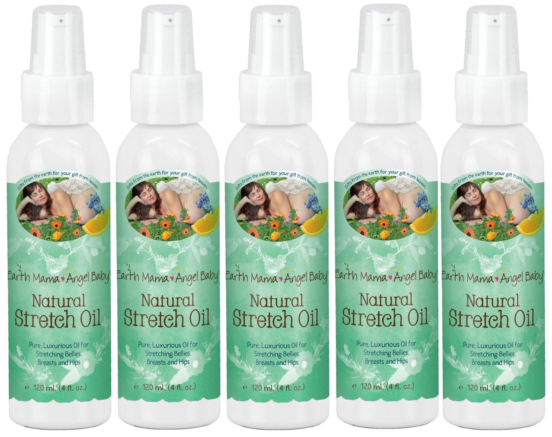 Earth Mama Angel Baby Natural Stretch Oil (Pack of 5)