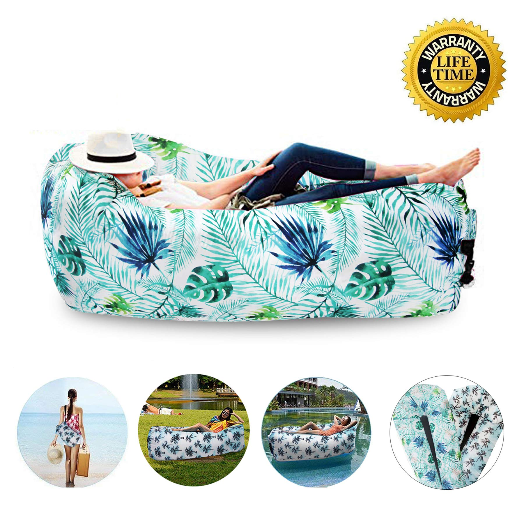 Deer Mum Air Chair Inflatable Sofa Couch Lounger Hommock Portable Picnic Outdoor Use Camping Beach Pool Float Sofa by Deer Mum