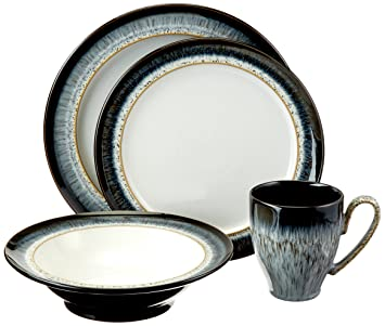 Amazon.com Denby Halo 4-Piece Place Setting Dinnerware Sets Kitchen \u0026 Dining  sc 1 st  Amazon.com : denby dinnerware set - pezcame.com