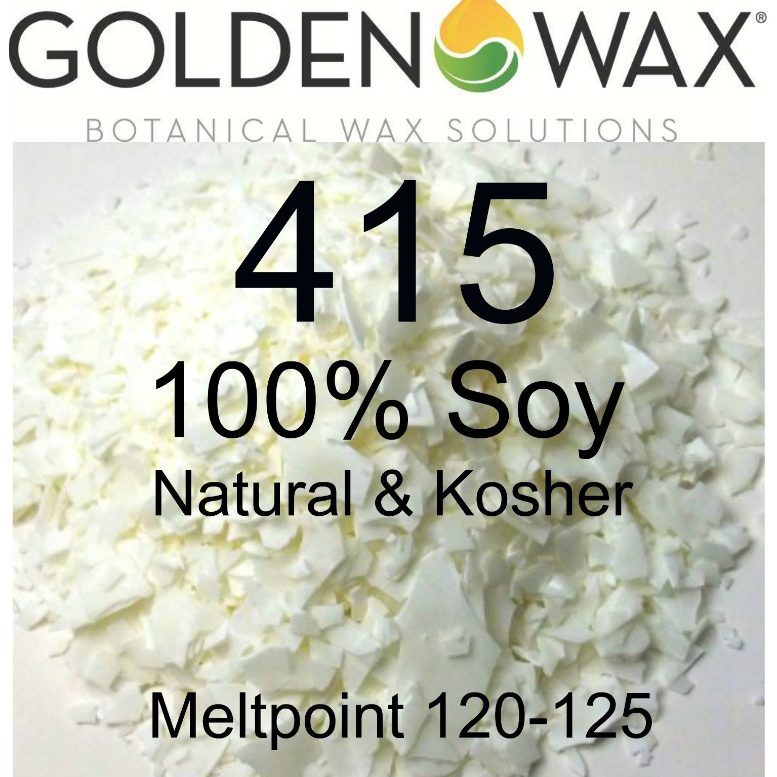 Pack of 1, Golden Brands 415 100% Soy Wax Per 50 Lb. Case for Candles & Tarts, Paraffin, Beeswax Also for Lotions, Creams, Lip Balms