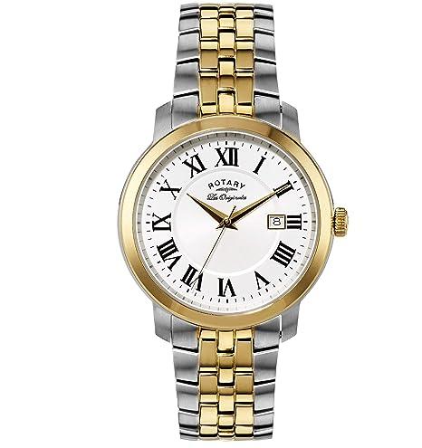 Rotary Les Originales GB90091/21 - Reloj para hombres, correa de acero inoxidable chapado: Amazon.es: Relojes