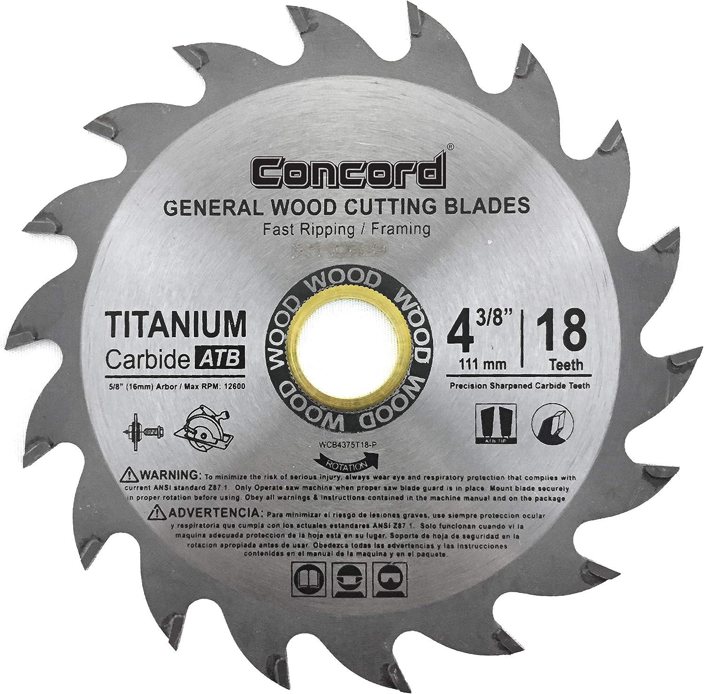Concord 4-3/8-Inch Hard & Soft Wood Saw Blade