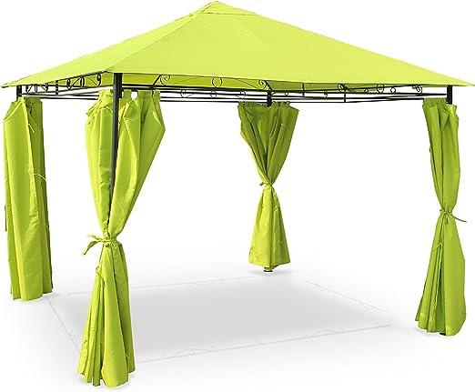 Alices Garden - Pergola con cortinas 3x3m - Verde: Amazon.es: Jardín
