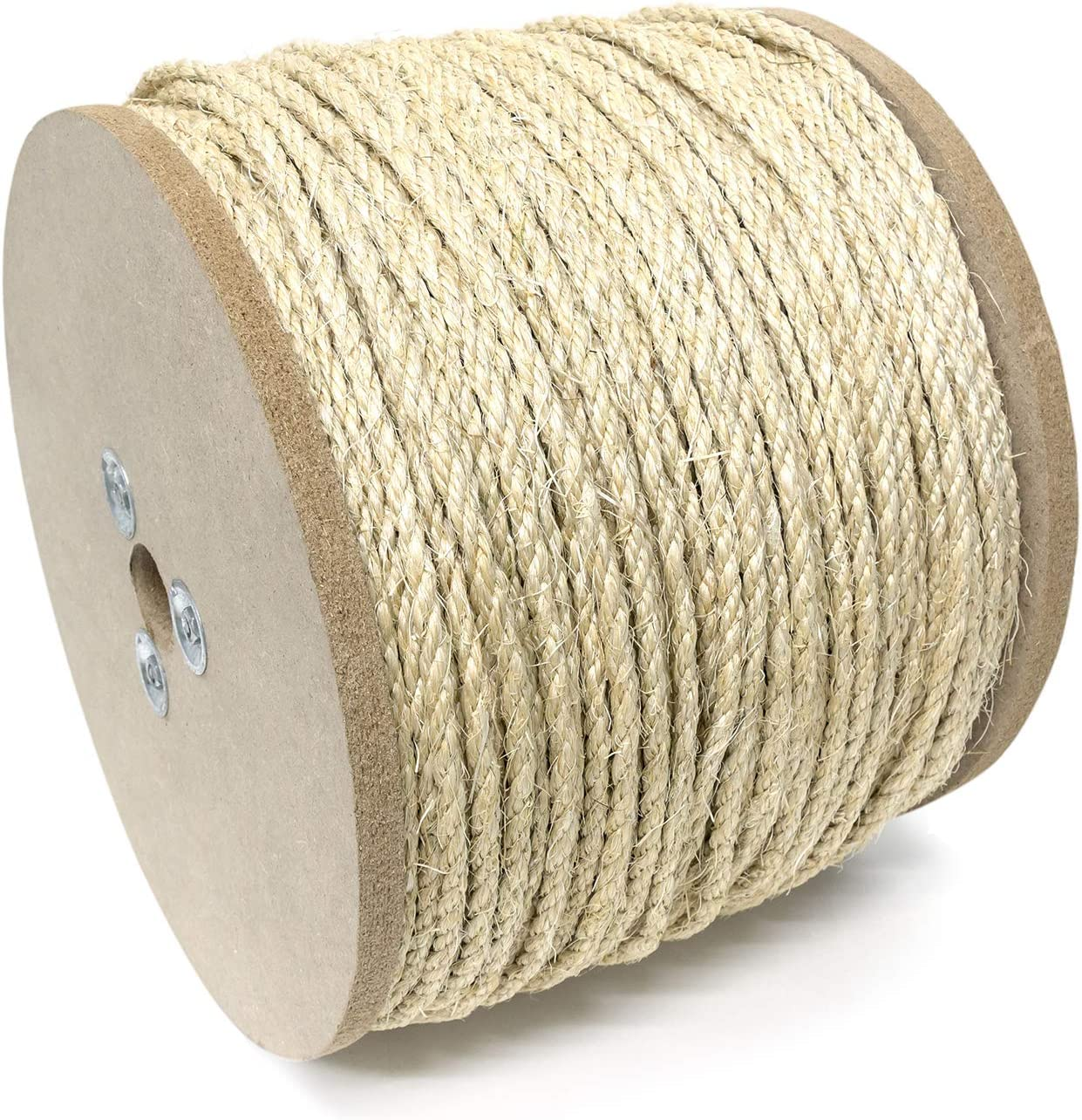 "KingCord 309731 Sisal Twisted Rope Reel 3/4"" x 150', Natural"